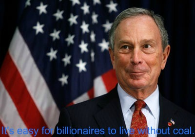 Post image for NYC Mayor Bloomberg Gives $50 Million to Anti-Coal Campaign