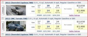 E85 vs Regular Gasoline May 6, 2013
