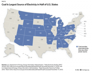 Coal Largest Source of Electricity in Half the States