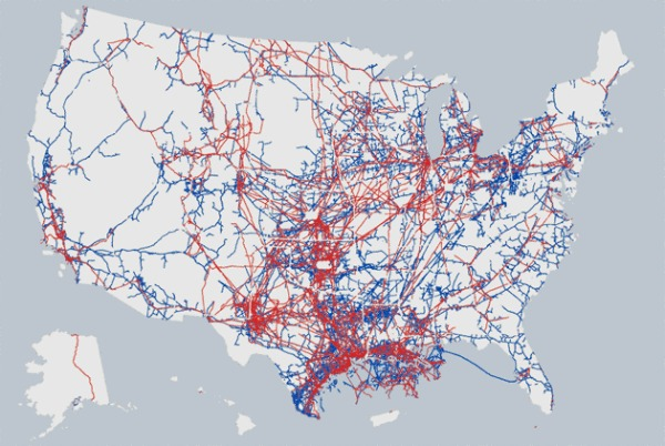 Existing pipeline infrastructure