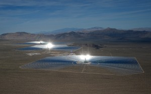 Ivanpah three towers