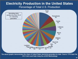 Nasi Texas Electricity Production Percent of U.S.