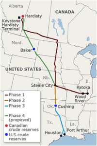 Keystone XL Map Built and Proposed