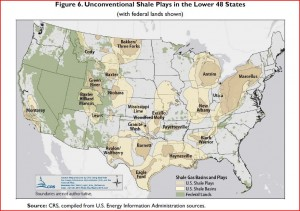 Shale Plays in Lower 48 (shows federal lands)