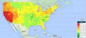 Gas Prices Map May 20, 2015 Gasbuddy
