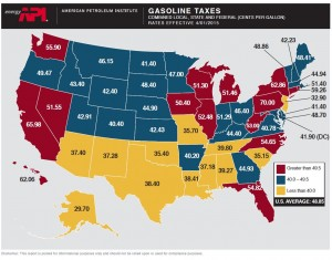 Gas Taxes by State API May 2015